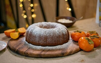 Persimmon Almond and Bundt Cake