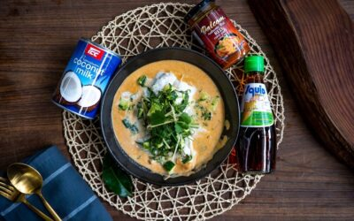 Thai Poached Fish in Red Curry