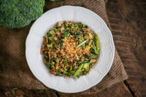 6186 Special Fried Rice, broccoli, Chinese broccoli, peas 2 - HEADER