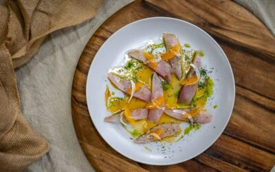 Kingfish with Fennel, Dill and Mandarin