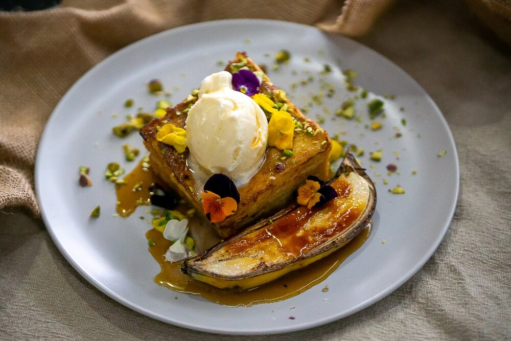 Brioche French Toast with Bruleed Banana