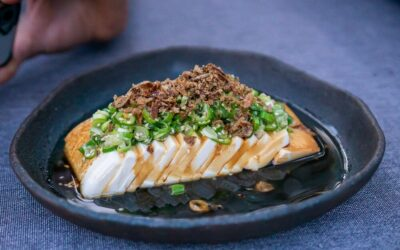 Silken Tofu with Chilli and Spring Onion